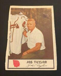 1955 Johnston Cookies Joe Taylor #NNO Asst Trainer MGR BRAVES oddball NO RESERVE