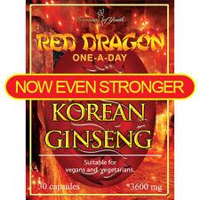 Extracto de ginseng coreano Dragón Rojo Alta Resistencia saponina 3600mg One-al día-cápsula