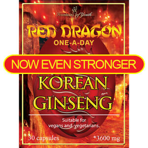 KOREAN RED DRAGON GINSENG EXTRACT HIGH STRENGTH SAPONIN 3600mg ONE-A DAY-CAPSULE