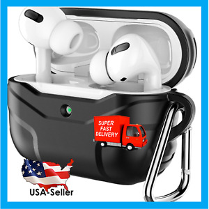 AirPods Pro Case for AirPods Pro 2019 Silicone Protective Cover with Carabiner
