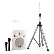 Ibiza Bluetooth mobile PA Box DJ Akku Lautsprecher Mikrofon mit Mikrofonständer