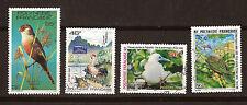 POLYNESIE Frse  4 timbres oblitérés:les oiseaux marins et terrestre, coq 1M 53A