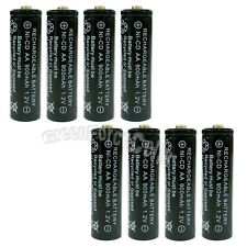 8 x AA 900mAh Ni-Cd NICD Ni-Cad 1.2V rechargeable battery cell/RC Black US Stock