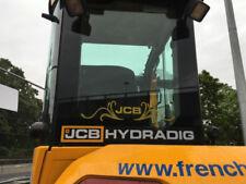 JCB Escavatore Trattore Decalcomania POSTERIORE Swirl Con Logo Adesivo Logo Nuovo Stile