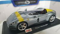 MAISTO 1:18 Scale Diecast Model Car Ferrari Monza SP1 in Silver