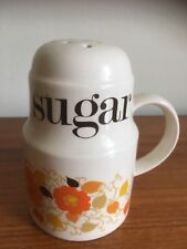 1970's Crown Devon Carnaby Daisy Sugar Sifter - Mary Quant Retro Kitchenalia