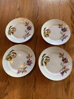 "Royal Worcester Evesham Gold Bread~Dessert Plates 6.5"" Made In England Set Of 4"