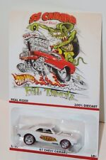 hot wheels cusmos 67 chevy camaro rat-fink full throttle 5 spoke rims. limited!