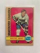 1972/73 OPC #84 WAYNE MAKI. Vancouver Canucks