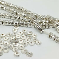 20 Karen Hill Tribe Silver Square Nugget Chip Beads for Bracelet Necklace Spacer
