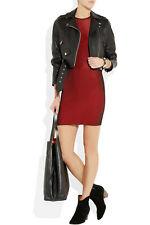 Alexander Wang Ribbed Stretch-Knit Mini Dress SZ XS ($395) Red