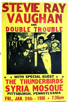 STEVIE RAY VAUGHAN  -  DOUBLE TROUBLE  - 1986 PITTSBURGH - SCARCE