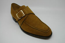 Barker Cannon Monk Shoes in Mustard Suede UK 6 FX