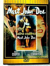 "DVD - 1941 ""MEET JOHN DOE"" WITH GARY COOPER, BARBARA STANWYCK, WALTER BRENNAN"