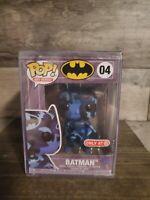 Funko Pop! Batman Dark Blue Artist Series 04 Target Exclusive w Pop Stack 💥💥💥