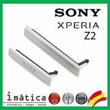 TAPA MICRO USB TARJETA SD NANO SIM SONY XPERIA Z2 L50W COVER D6503 BLANCO BLANCA