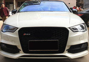 Audi A3/S3 (8V) Pre-Facelift RS3 Style Gloss Black Honeycomb Front Grille
