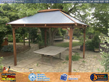 Timber Lifestyle Gazebo Kit - Colourbond Roof - Skylight - 3.0 X 3.0 Metre