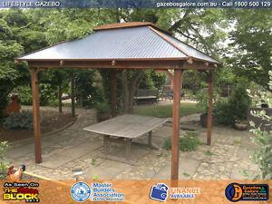 Timber Lifestyle Gazebo Kit - Colourbond Roof - Skylight - 3.0 X 3.0 Metre