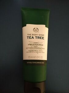 The Body Shop Tea Tree 3 in 1 Wash Scrub Mask, 125ml combine Shipping cruelty fr
