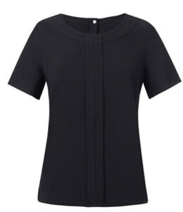 Brook Taverner Verona Crepe De Chine Blouse Black Uk6r