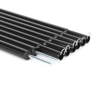 Set Of 2 Universal Telescopic Adjustable Steel Tent/Awning Poles 180 - 220cm