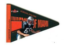 2002 Fleer School Colors Dan Morgan Panthers Miami Hurricanes Jersey jh16
