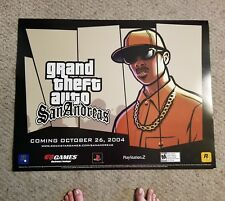 Rockstar Games Grand Theft Auto San Andreas Super Rare Promotional Billboard