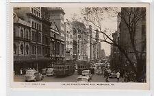 COLLINS STREET LOOKING WEST, MELBOURNE: Australia postcard (C20080)