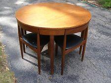 Teak Game Table Chair set Hans Olsen Frem Rojle Vintge Danish MidCentury Modern