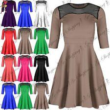 Unbranded Short Sleeve Skater Dresses for Women