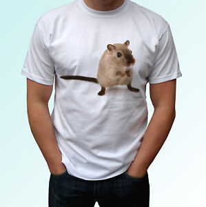 Gerbil white t shirt animal tee desert rat top - mens womens kids baby sizes