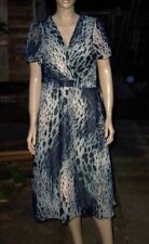 Polyester V-Neck Party Animal Print Dresses for Women
