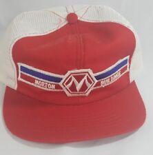Vtg Morton Buildings Trucker Hat Cap Swingster Snapback Red Patch Farming
