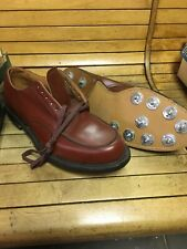 Vintage 70s Hyde Golf Shoes Size 11.5 Rare Brown Gold Cleat Usa Made