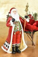 "Elegant Formal Santa Claus Figurine Holiday Decor 14"" Tall Red 884RM"