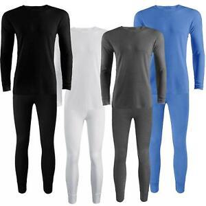 Mens Full Set Vest Top Thermal Underwear Long Johns Trouser & Long Sleeve Shirt
