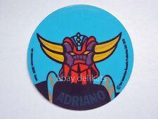 ADESIVO Sticker card vintage UFO ROBOT GOLDRAKE 1978 nome ADRIANO