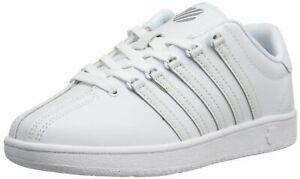 K-Swiss Unisex Sneakers Echtleder Rein Weiß Größe 39.5