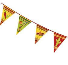 MEXICAN FIESTA SOMBRERO MARACAS CHILLI BUNTING FLAG BANNER FOR BIRTHDAY PARTIES!