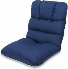 WAYTRIM Indoor Adjustable 5-Position Floor Chair Padded Gaming Sofa Chair, Blue