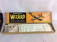 """Vintage Mercury Wizard Model Aircraft Kit. 32"""". For 049 Motors. Unmade"""