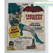 1966 BATMAN Prell & Gleem Sweepstakes Original Poster AD W/Ultra Rare Coupons