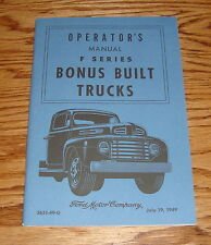 1949 Ford Truck F Series Owners Operators Manual 49