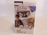 Harry Potter 3 Piece Twin Sheet Set Flat Sheet Fitted Sheet and pillow case