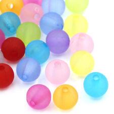 100 Acryl Kugeln matt Mix Perlen Beads Acryl 6 mm Perlen MIX