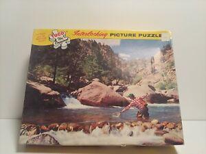 "Vintage Tuco Puzzle ""Big Rock Hole""  COMPLETE  ( Easy interlocking )400pc. X4"