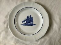 "WEDGWOOD Blue AMERICAN CLIPPER Georgetown Collection 10 1/4"" Dinner Plate"