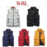 Men Down Cotton Padded Sleeveless Jackets Vest Coats Waistcoat Parka Coat Blouse