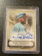New listing 2021 Topps Tier One Gary Sheffield On Card  Auto /300 Florida Marlins